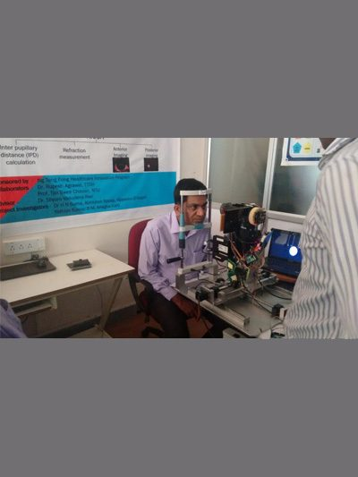Dr Agrawal in India developing an automated kiosk prototype for self assessment of eyes in the rural community